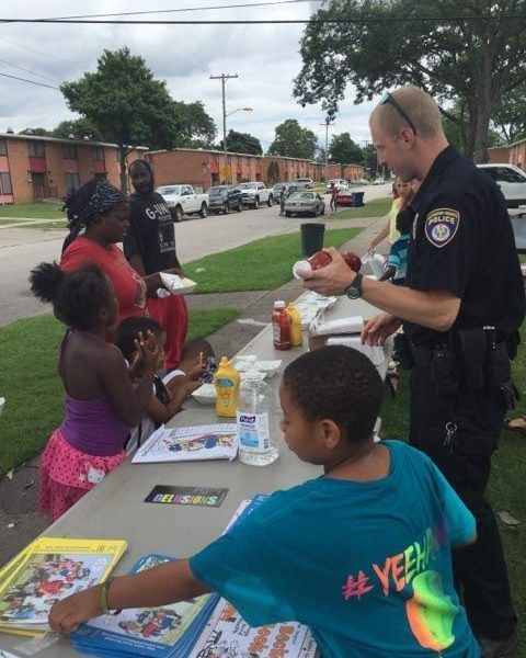 Community Policing in the Heights.